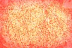 Grunge anaranjado y rosado con el marco de la ilustración, frontera, disposición Foto de archivo libre de regalías