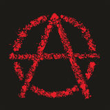 Grunge anarchy symbol , vector illustration. Eps 8 format Stock Images