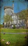 Grunge ancient irish castle on west coast ireland Stock Photography