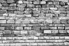Grunge ancient old brick wall fragment background, texture Stock Photography