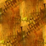 Grunge ancient ornament drawing usa yellow Royalty Free Stock Photo