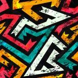 Grunge ancient seamless pattern Royalty Free Stock Photos