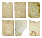 Grunge ancient used paper Stock Images
