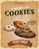 Grunge And Vintage American Cookies Poster Stock Photo