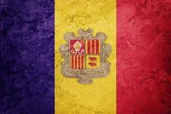 Grunge Andorra flaga Andorra flaga z grunge teksturą Obrazy Stock