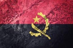 Grunge Angola flaga Angola flaga z grunge teksturą Obraz Royalty Free