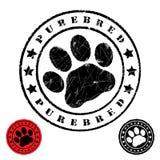 Grunge animal footprint Royalty Free Stock Photo