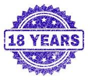 Grunge 18 ANOS de selo do selo ilustração stock