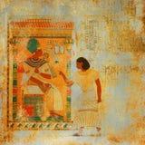 Grunge antik Egypten bakgrund stock illustrationer