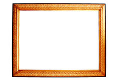 Grunge antique frame isolated Royalty Free Stock Image