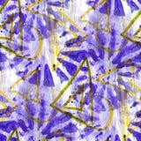 Grunge antyczny ornament rysuje usa czerwień, błękitną Fotografia Royalty Free