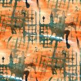 Grunge antyczny ornament rysuje usa kolorową czerwień, Zdjęcie Stock