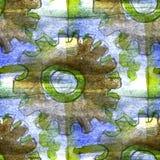 Grunge antyczny ornament rysuje usa kolorowych Obrazy Royalty Free