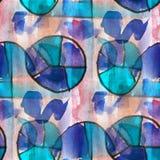 Grunge antyczny ornament rysuje usa kolorowych Obraz Stock