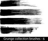 Grunge aplica la línea con brocha Imagen de archivo libre de regalías