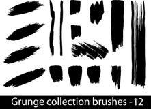 Grunge aplica la línea con brocha Fotos de archivo libres de regalías