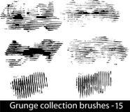 Grunge aplica la línea con brocha Imágenes de archivo libres de regalías