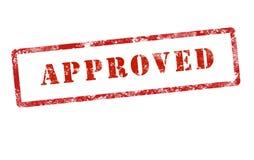 Grunge aprovado da marca do selo Imagem de Stock