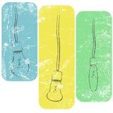 Grunge żarówki na drutach Zdjęcia Stock