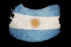 Grunge Argentina flag. Argentina flag with grunge texture. Brush. Stroke. Brush stroke stock illustration