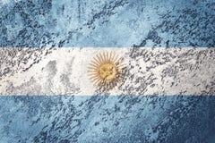 Grunge Argentina flag. Argentina flag with grunge texture. Grunge flag stock illustration