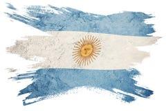 Grunge Argentina flag. Argentina flag with grunge texture. Brush. Stroke. Brush stroke Flag royalty free illustration