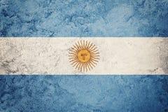 Grunge Argentyna flaga Argentyna flaga z grunge teksturą Fotografia Stock
