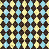Grunge argyle background Royalty Free Stock Photos