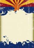 Grunge Arizona flag Stock Photo