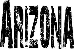 Grunge Arizona sign Royalty Free Stock Images