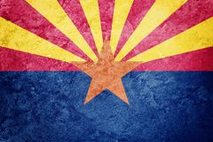 Grunge Arizona stanu flaga Arizona flaga tła grunge textur Fotografia Stock