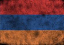 Grunge Armenia flag. Illustration - flag of Armenia on vintage texture Stock Image