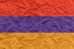 Grunge Armenia flaga wzór Fotografia Stock