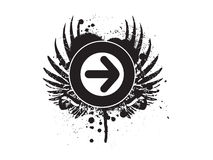 Grunge arrow background Stock Image