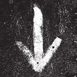 Grunge Arrow Stock Image