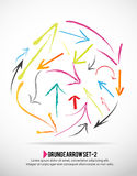 Grunge arrow icon set. Colorful grunge arrow icon set background Royalty Free Stock Photo