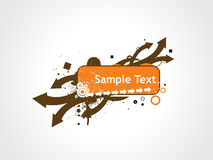 Grunge arrow sample text Royalty Free Stock Photography