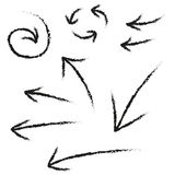 Grunge arrow set. Grunge arrow vector illustration set Royalty Free Stock Photo