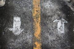 Grunge arrow sign Stock Photo
