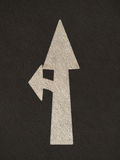 Grunge arrow signs road Stock Photos