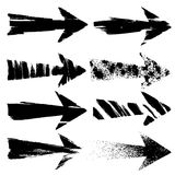 Grunge arrows. On white background Stock Photography