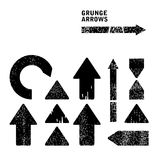 Grunge arrows set Stock Photos