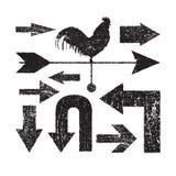 Grunge arrows set vector eps8 Royalty Free Stock Photo