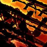 Grunge artístico del fractal fondo del arte moderno Vieja textura abstracta Diseño sucio del ejemplo Brown oscuro Rusty Orange Co Imágenes de archivo libres de regalías
