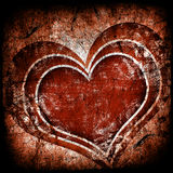 Grunge art background. With hearts royalty free illustration