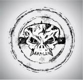Grunge Art Schädel-Stempel Lizenzfreie Stockfotos