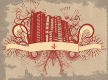 Grunge Artgebäude Stockfoto