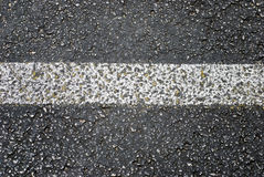Grunge Asphalt Road Stripe Detail Stock Photography