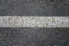 Grunge Asphalt Road Stripe Detail Stock Photography
