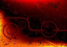 Grunge astratto del fuoco Fotografia Stock